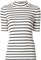 Closed striped fitted top - women - Cotton/Modal - XS