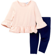 Splendid Loose Knit Top & Leggings Set (Baby Girls)