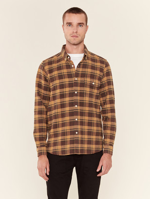 Far Afield Larry Long Sleeve Plaid Button Down Shirt