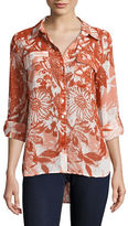 Tommy Hilfiger Button Front Shirt Island Top