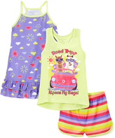 Komar Kids Purple & Yellow 'Alpaca My Bags' Nightgown & Pajama Set - Girls