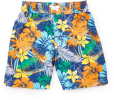 Pink Platinum Orange & Blue Floral Boardshorts - Infant & Toddler