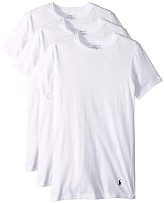 Polo Ralph Lauren Slim Fit w/ Wicking 3-Pack Crews (White/Cruise Navy Pony Print) Men's Underwear