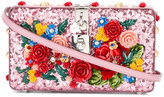 Dolce & Gabbana floral embellished clutch - women - Calf Leather/Polyester/Viscose - One Size
