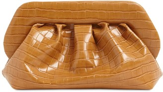Themoire Bios Croc Embossed Faux Leather Clutch