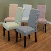 Monsoon Villa Set of 2 Stripe Linen Dining Chairs