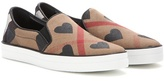 Burberry Check Slip-on Sneakers