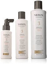 Nioxin System 3 Thinning Hair for Unisex Cleanser 10.1 oz, Scalp Therapy 5.07 oz, Scalp Treatment 3.38 oz