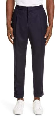 Officine Generale Drew Crop Wool Flannel Pants