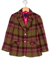 Oscar de la Renta Girls' Plaid Wool Blazer