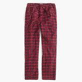 J.Crew Flannel pajama pant in navy tattersall