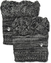 BearPaw Cable Knit Boot Toppers