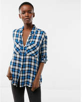 Express small plaid boyfriend shirt