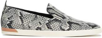 Vince Vero Snake-print Leather Slip-on Sneakers