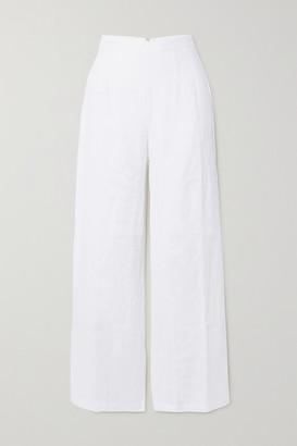 Faithfull The Brand + Net Sustain Sibyl Linen Wide-leg Pants - White