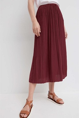 Witchery Soft Fine Pleat Skirt