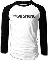 Funwoos Cast Basic The Offspring Logo Long Sleeve Raglan Shirt Men Cotton