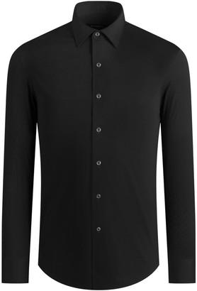 Bugatchi Men's Solid OoohCotton Tech Long-Sleeve Sport Shirt