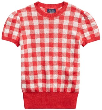 Polo Ralph Lauren Polo Short-Sleeve Gingham Top