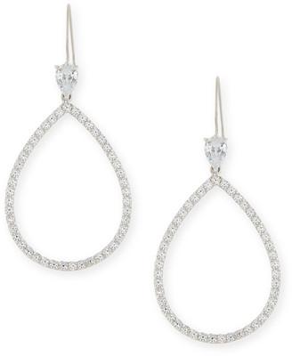 FANTASIA Open CZ Crystal Teardrop Earrings