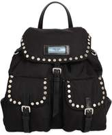 Prada Etiquette Nylon Backpack W/ Studs