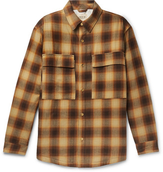 Fear Of God Oversized Padded Checked Brushed-Cotton Overshirt