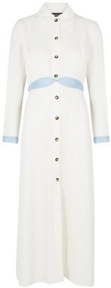 Anna October Alexandra White Belted Shirt Dress