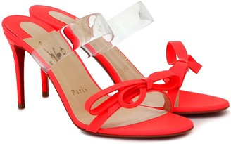 Christian Louboutin Just Nodo 85 leather and PVC sandals