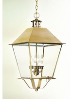 clear Theodore 4-Light Outdoor Hanging Lantern Darby Home Co Finish: Charred Iron, Shade Type
