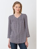 Somewhere Woman's viscose twill tunic with exclusive Tie print, HIYAMA