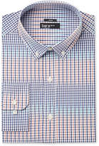 Bar III Men's Slim-Fit Stretch Coral Blue Gingham Dress Shirt, Only at Macy's