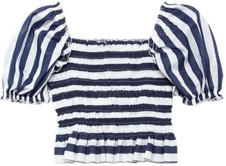 MonnaLisa Striped Cotton Muslin Top