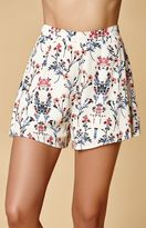 Honey Punch Floral Print Soft Shorts