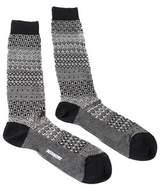 Missoni Gm00cmu4655 0005 Gray/black Knee Length Socks.