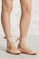 Forever 21 FOREVER 21+ Lace-Up Ballet Flats