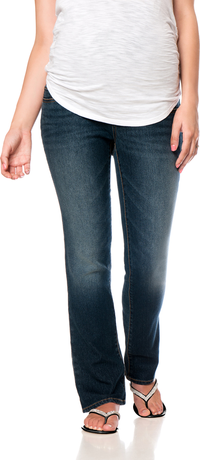 Motherhood Indigo Blue Petite Skinny Boot Maternity Jeans