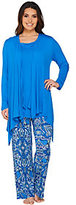 Carole Hochman Electric Boho Rayon Spandex 3-Piece Lounge Set