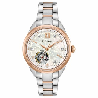 Bulova Women's Automatic-self-Wind Watch with Stainless-Steel Strap Two Tone 15 (Model: 98P170)