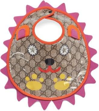 Gucci Baby GG bib with hedgehog motif