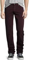 Rag & Bone Fit 2 Slim-Leg Twill Jeans, Distressed Wine