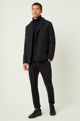 French Connection Contrast Check Wool Jacket