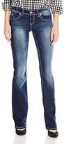 YMI Jeanswear Junior's Wannabettabutt Heavy Stitch Bootcut
