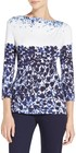 blue jasmine floral print jersey tshirt