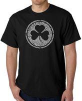 Men's Word Art Irish T-Shirt in Black