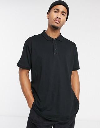Night Addict oversized polo shirt