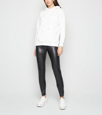 New Look Tall Coated Leather-Look Zip Leggings