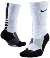 Nike Hyperelite Basketball Crew Dri-Fit Men Socks /Black SX4801-101 (SIZE: M)
