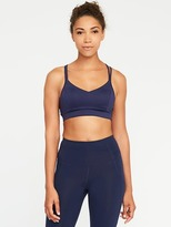 Old Navy Go-Dry Light-Support Strappy Sports Bra for Women