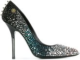 Philipp Plein 'Predator' pumps - women - Leather/Suede/PVC - 39