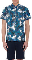 Saturdays Surf NYC MEN'S BOTANICAL-PRINT SHORT-SLEEVE SHIRT-NAVY SIZE XL
